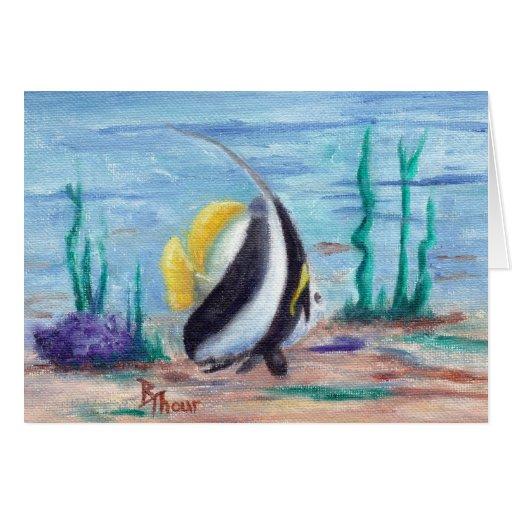 A pescado a pescado tarjeta de felicitación