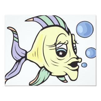 """¡A pescado!  ¡Personalizable! Invitación 4.25"""" X 5.5"""""""