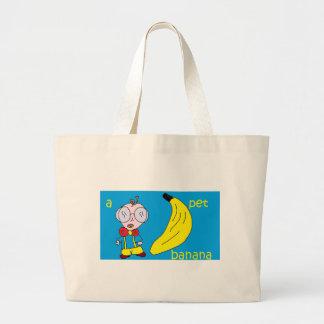 a pet banana canvas bags