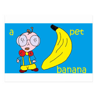 a pet banana postcard