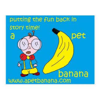 a pet banana production postcard
