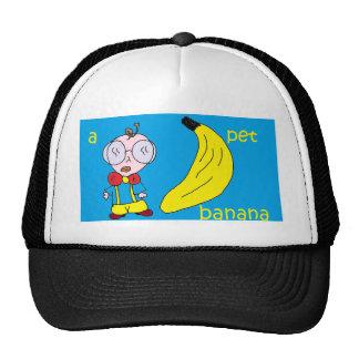 a pet banana trucker hat