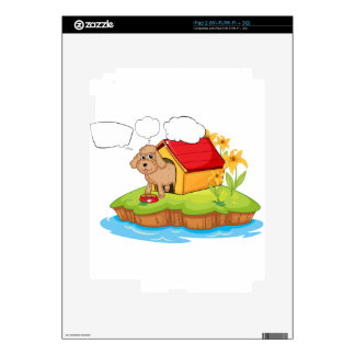 A pet in an island with empty callouts iPad 2 skin