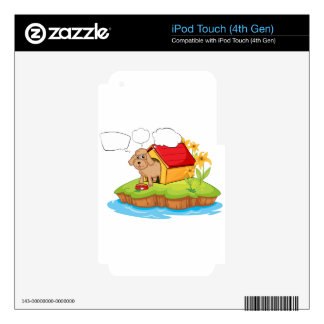 A pet in an island with empty callouts iPod touch 4G skin