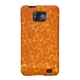 A petal of a tagetes flower under the microscope samsung galaxy SII covers