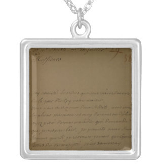 A petition to be released from jail silver plated necklace