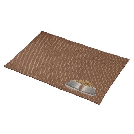 A Pets Placemat (brown polkadot)
