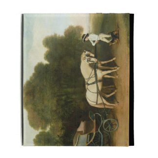 A Phaeton with a Pair of Cream Ponies in the Charg iPad Cases