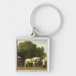 A Phaeton with a Pair of Cream Ponies in the Charg Keychains