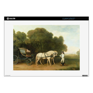 A Phaeton with a Pair of Cream Ponies in the Charg Laptop Skins