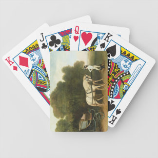 A Phaeton with a Pair of Cream Ponies in the Charg Poker Cards