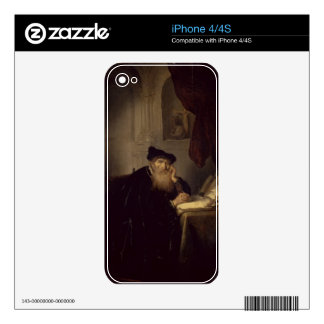 A Philosopher, 1635 (oil on panel) iPhone 4 Skin