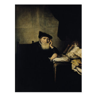 A Philosopher in his Study Postcard