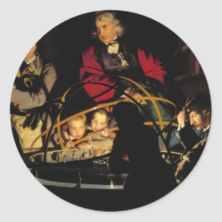 A Philosopher Lecturing on the Orrery Classic Round Sticker