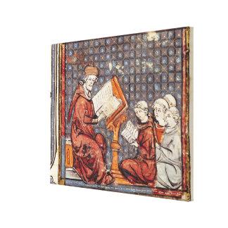A Philosopher teaching in Paris Canvas Print