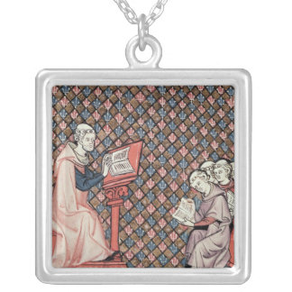 A philosophy lesson silver plated necklace