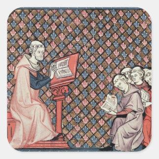 A philosophy lesson square sticker