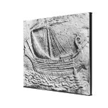 A Phoenician trade ship at Sidon Gallery Wrap Canvas