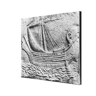 A Phoenician trade ship at Sidon Canvas Print