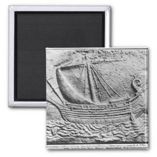 A Phoenician trade ship at Sidon Refrigerator Magnet