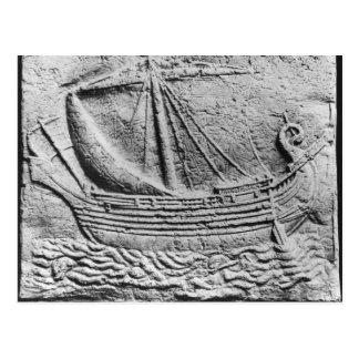 A Phoenician trade ship at Sidon Postcard