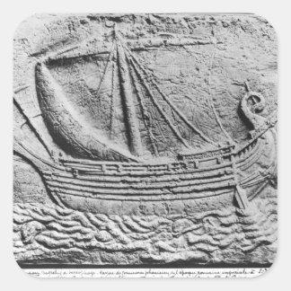 A Phoenician trade ship at Sidon Square Sticker