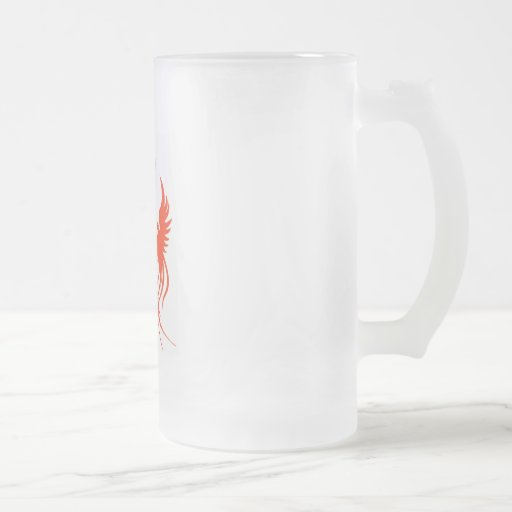 A Phoenix's Shadow Frosted Mug