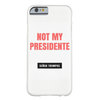 A phone case with a message to the president.