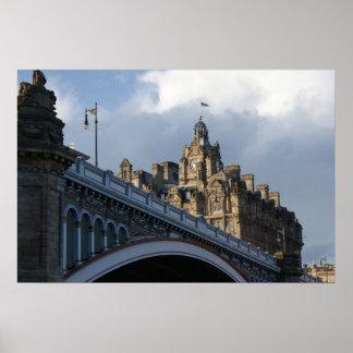 A photo poster print of Edinburgh.