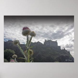 A photo poster print of Edinburgh Castle.