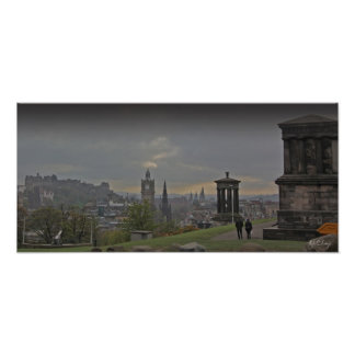 A photo poster print of Edinburgh from Calton Hill