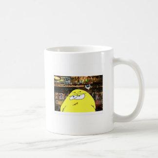 A pickeled egg works at paulie's bar coffee mug