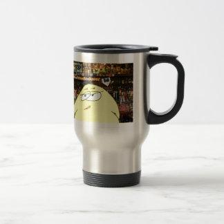 A pickeled egg works at paulie's bar travel mug