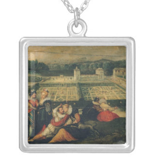A Picnic in a Park Silver Plated Necklace