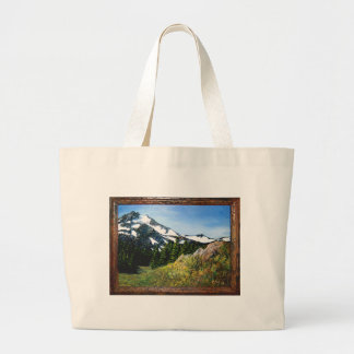 A picnic spot with a beautiful view tote bag