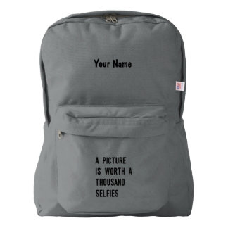 A Picture is Worth a Thousand Selfies American Apparel™ Backpack