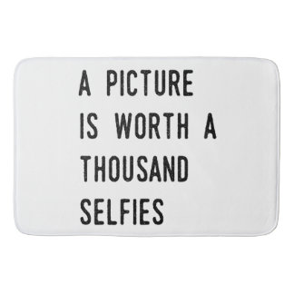 A Picture is Worth a Thousand Selfies Bath Mat