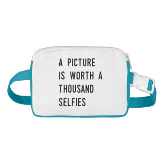 A Picture is Worth a Thousand Selfies Nylon Fanny Pack