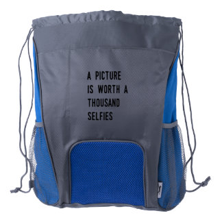A Picture is Worth a Thousand Selfies Drawstring Backpack
