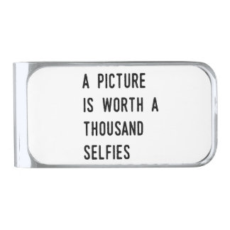 A Picture is Worth a Thousand Selfies Silver Finish Money Clip