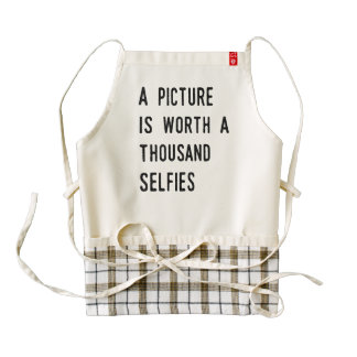 A Picture is Worth a Thousand Selfies Zazzle HEART Apron