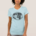 A picture of the world globe Africa Asia Europe Tees