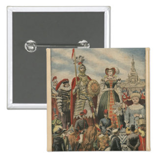 A picturesque and traditional feast 2 inch square button