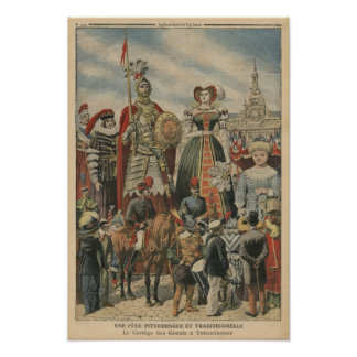 A picturesque and traditional feast poster