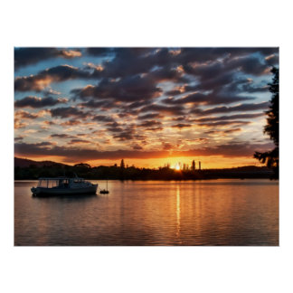 A Picturesque Morning at Lake Burley Griffin Poster