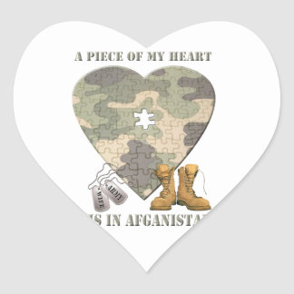 A Piece of My Heart Army Wife Stickers