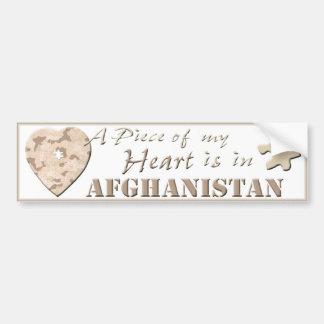 A Piece of My Heart Is In Afghanistan Bumper Stick Bumper Sticker