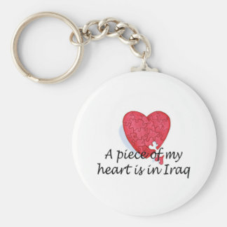 A Piece Of My Heart Is In Iraq Keychain