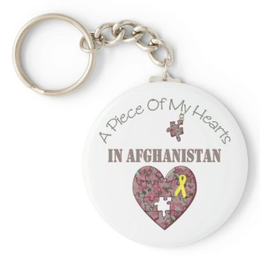 A Piece of My Hearts In Afghanistan Keychain
