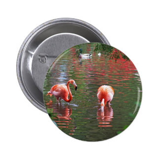 A piece of the paradise flamingo pin